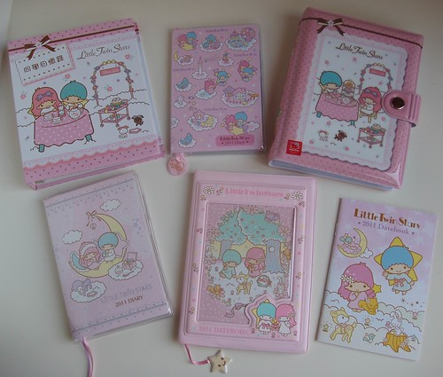 Sanrio Little Twin Stars diaries/datebooks