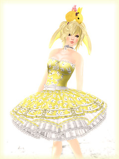*katat0nik* (lt yellow) #2 Hoppy Easter Dress