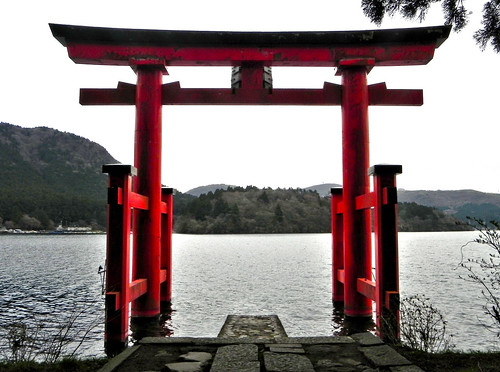 Hakone Torii in the Lake