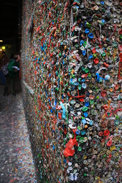 More gum at the Market Theater Gum Wall