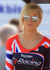 Triumph T3 Triple Challenge Promotion Girl - BSB Brands Hatch 25th April 2011
