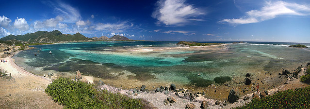 St. Martin east coast panorama