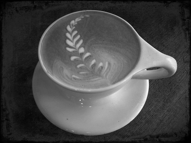 Latte in Black & White