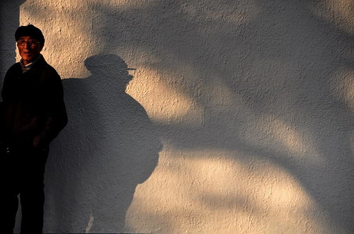 man and his shadow...