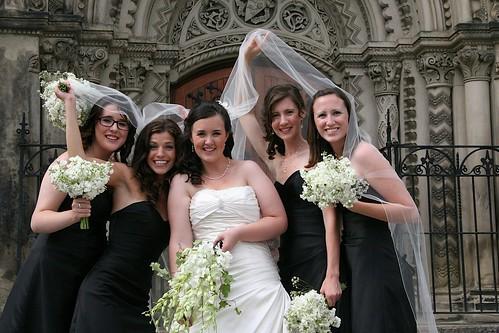 Bridesmaids under Heather's veil