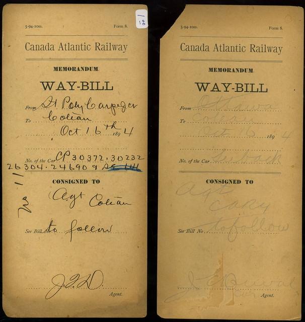 Canada Atlantic Waybill