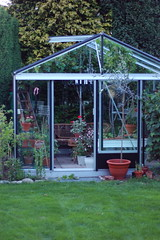backyard, outdoor structure, garden, tool, orangery,
