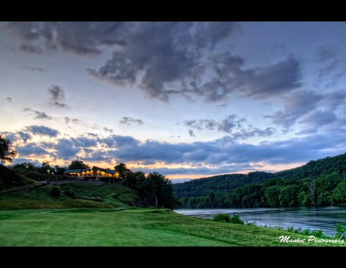 new sunset sky green nature clouds river golf landscape virginia n golfcourse hdr clubhouse vt newriver radford virginiatech d90 gyawali mankotphotography