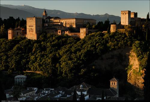 sunrise spain scenery alhambra granada