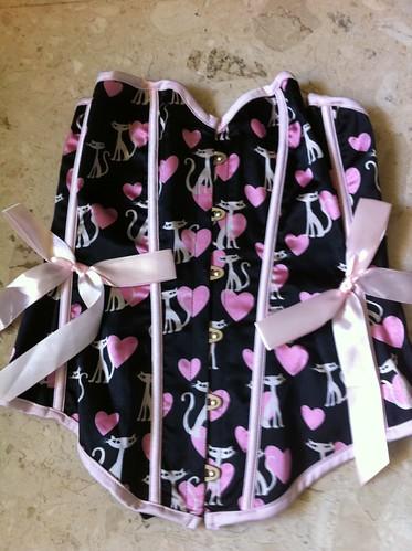Heart Kitties corset