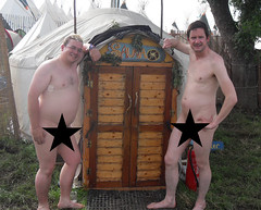 Worthy FM's Gez and Guy enjoy a naked sauna in Lost Horizons