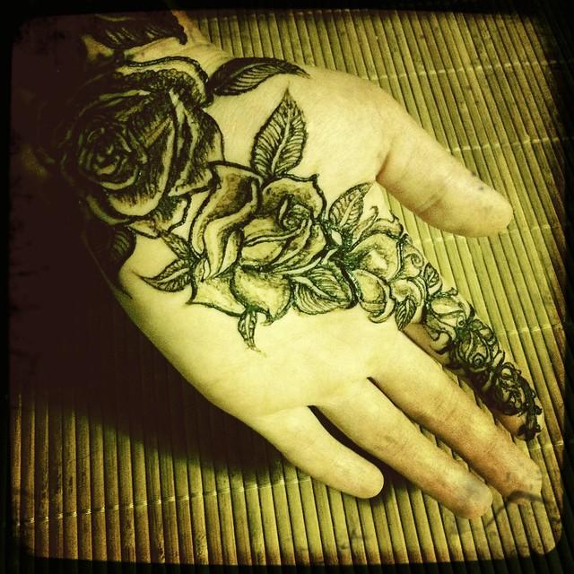 Rose henna flickr photo sharing for Rose henna tattoo