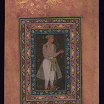 Album of Persian and Indian calligraphy and paintings, A young Mughal courtier with a sword, Walters Manuscript W.668, fol.65a
