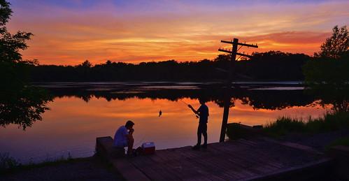 sunset fishing poconos monroecounty summitlake