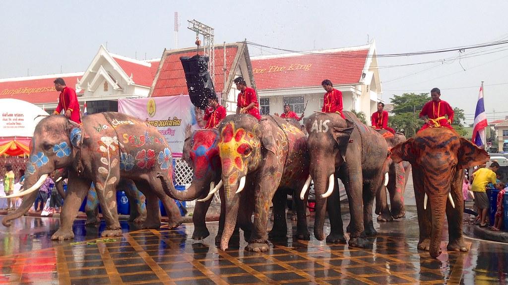 Songkran. Ayutthaya, Thailand. 9