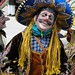 Danzante en sombrero azul - Dancer with a blue hat; Fiesta del pueblo, Joyabaj, El Quiché, Guatemala