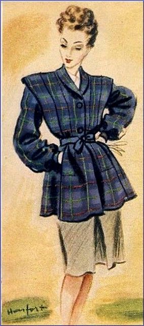 The 1940s- 1945 Autumn Fashion