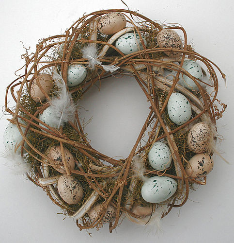 rustic twig and easter egg wreath flickr photo sharing. Black Bedroom Furniture Sets. Home Design Ideas