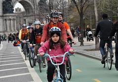 Family Bikeride, Prospect Park West, Brooklyn