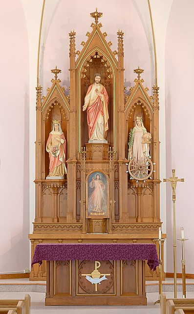 Saint Elizabeth Roman Catholic Church, in Marine, Illinois, USA - altar
