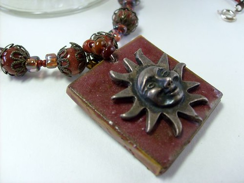 Brass Sun Rustic Style Necklace