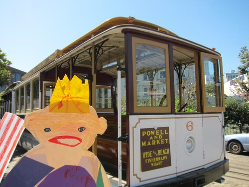 Flat Stanley, San Francisco, cable car IMG_5625