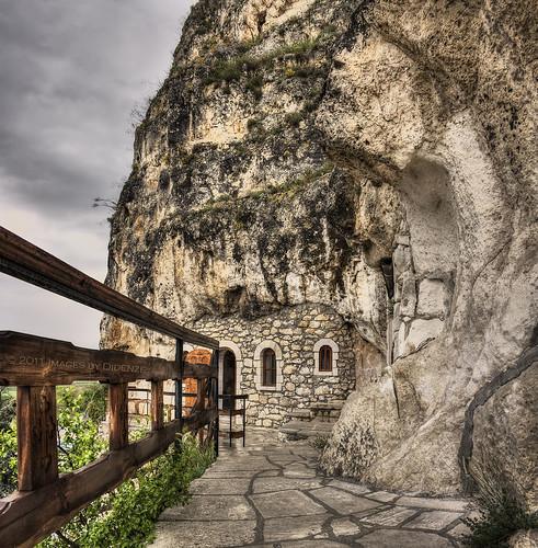 texture christian monastery bulgaria tone easternorthodox ruse canon50d vertorama rockmonastery basarbovski didenze