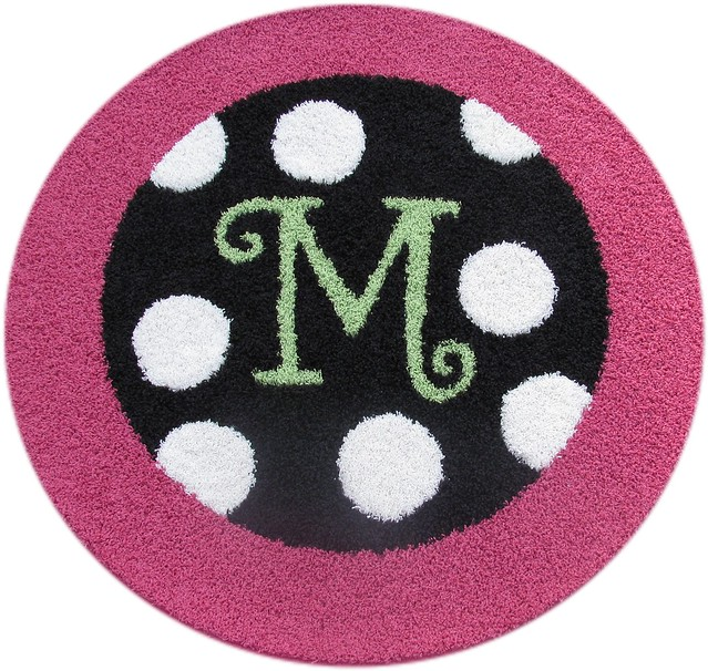 The Rug Market Kids Daisy Drawings 11592 Pink and Green Area Rugs