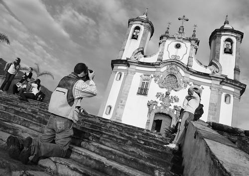 Fotografando a Igreja do Carmo