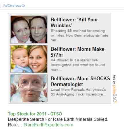 Closeup Screen shot of Meg n Me as ad material