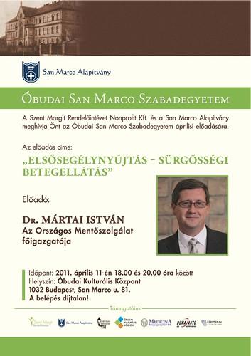 San Marco Szabadegyetem: Dr. Mártai István