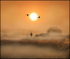 Sunrise over the Crayford Marshes