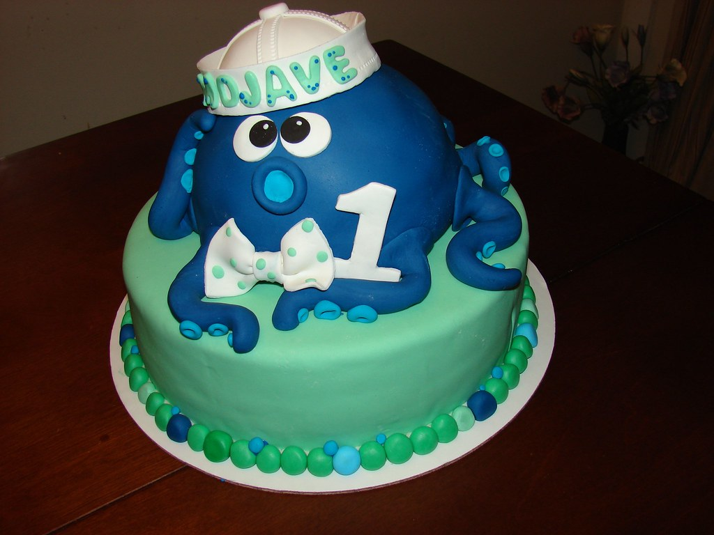 Cool Octopus Birthday Cake Octopus Carved Out Of Gluten Free Flickr Funny Birthday Cards Online Inifodamsfinfo