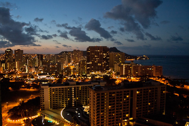 View from the balcony at Waikiki