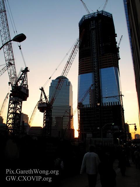 Sunset: Rebuilding skyline of ground zero, World Financial Centre, New York IMG_5865