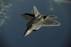 mcdonnell douglas f/a-18 hornet(0.0), sukhoi su-35bm(0.0), lockheed martin f-35 lightning ii(0.0), mcdonnell douglas f-15 eagle(0.0), lockheed martin f-22 raptor(1.0), aviation(1.0), airplane(1.0), wing(1.0), vehicle(1.0), fighter aircraft(1.0), jet aircraft(1.0), flight(1.0), aircraft engine(1.0), air force(1.0),
