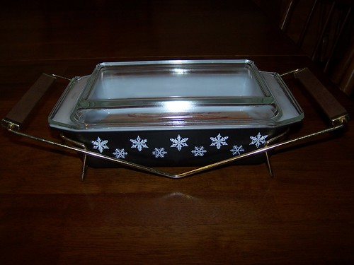 Pyrex Charcoal Snowflake Oven, Freezer, Server Set