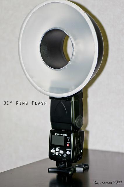 DIY Ring Flash | finished DIY macro ring flash. painted ...