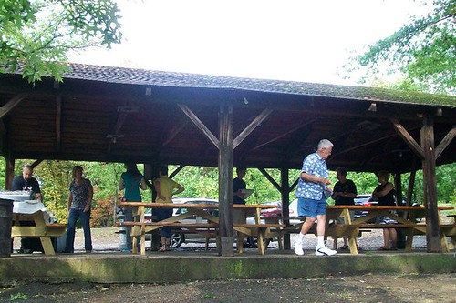 The picnic shelter in Schenley Park where the rehearsal dinner was held