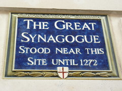 Photo of Great Synagogue blue plaque