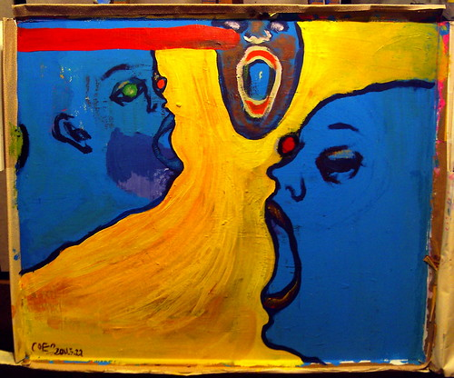 voices: yellow and blue