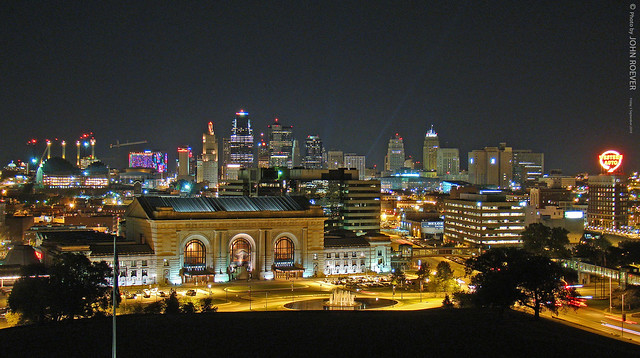 Kansas City At Night  Taken From Liberty