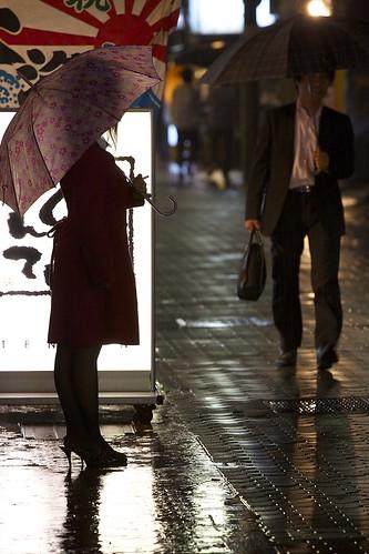 rain japan reflections neon afterwork heels umbrellas f5 rainyseason pavingstones gifushi canon50d gifuprefecture hostclubs 70200mmf4isusm cardtoclientadvertising