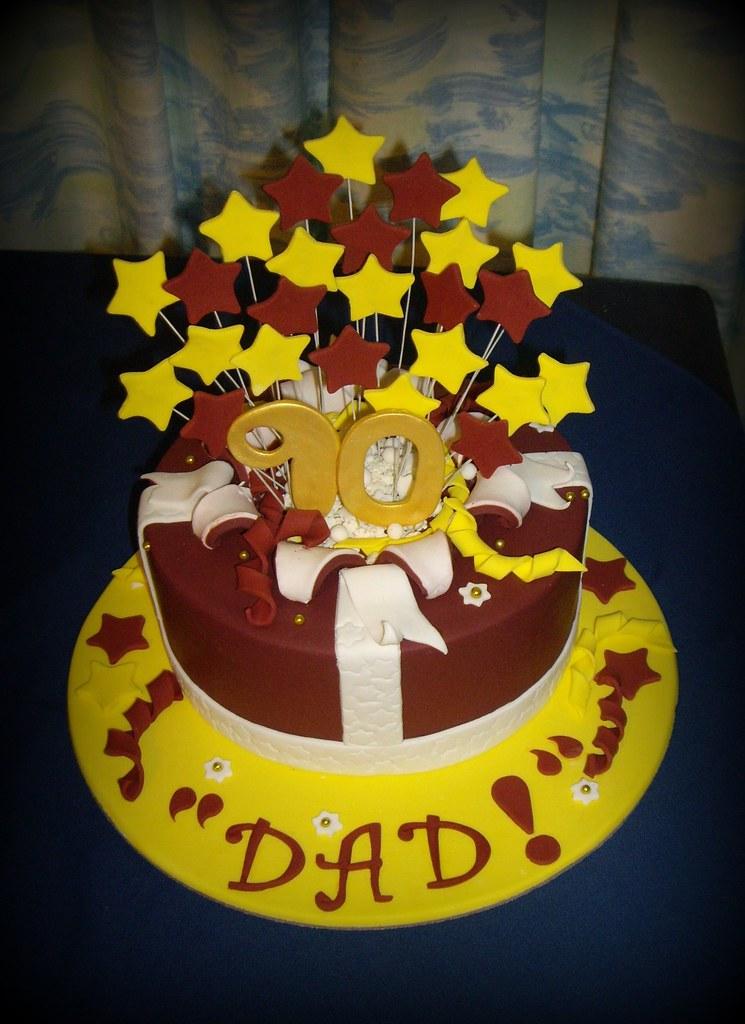 Dads 90th Birthday Cake
