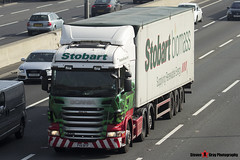 Scania R440 6x2 Tractor with Biomass 3 Axle Walking Floor Trailer - PX11 BTF - Nikki Fae - Eddie Stobart - M1 J10 Luton - Steven Gray - IMG_5625