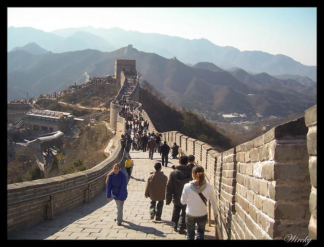 Descenso de la Gran Muralla China en tramo Badaling