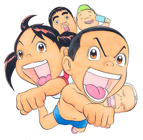 140529(1) -「大地丙太郎」續執導演筒!7月份搞笑新動畫《毎度!浦安鉄筋家族》(元氣!抓狂一族)發表『大澤木家』聲優陣容!