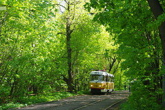 Spring tram Moscow