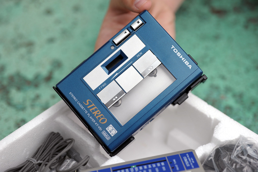 Toshiba Kt V S 1 New In Box Ovp Blue Azul Radio Ok Cassete