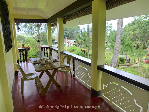 The veranda where we usually have our meals (i.e. breakfast, lunch & dinner). DDD Habitat Inc., in Lorega, Kitaotao, Bukidnon